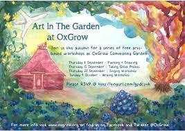 Art In The Garden - latest news u2013 oxgrow