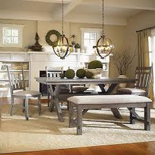 rustic dining table with bench rustic dining room set with bench table chairs design ideas on