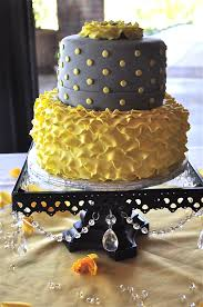 Kitchen Tea Cake Ideas by Gray U0026 Yellow Petal Ruffle Cake Bridal Shower Cake Cakes For