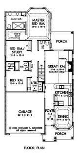 Narrow Townhouse Floor Plans Stylish Plan For A Narrow Lot Hwbdo69203 Bungalow House Plan