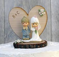 rustic wedding cake topper personalized precious moments rustic wedding cake