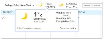 afficher outlook sur le bureau comment afficher ou masquer la barre météo au dessus des calendriers