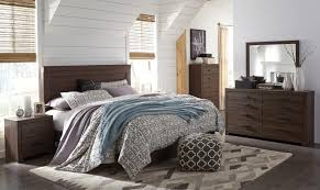 arkaline b071 king size bedroom set 5pcs in brown thick top