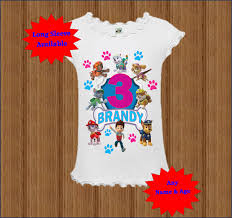 girls halloween tops paw patrol girls birthday shirt