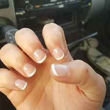 had her do a manicure with clear gel polish and french tips on my