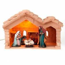 nativity set complete with manger 25 figurines 18 cm