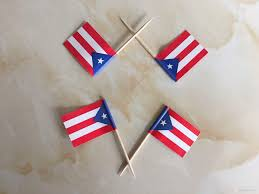 2017 mini puerto rico flag paper food picks dinner cake toothpicks