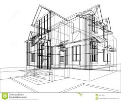 house construction sketch stock illustration image of background