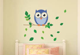 Owl Room Decor Owl On A Branch Wall Decal Lovely Kid S Room Decor