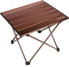 trekology camping beach table with aluminum top portable folding