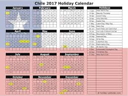 chile 2017 2018 holiday calendar