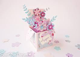 tutorial pop up card 3d flowers