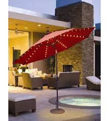 Patio Umbrellas With Led Lights Evening Umbrellas Led Lighted Galtech 9 Ft Auto Tilt Patio