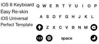 keyboard template computer keyboard blank template set vector