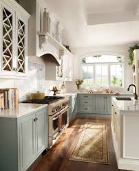 Glass Panel Kitchen Cabinets Concrete Countertops Two Tone Kitchen Cabinets Lighting Flooring