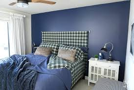 blue accent wall ascent wall accent wall in bedroom painted navy blue accent wall