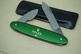 rolex pocket knife penknife wenger 100 original new federmesser