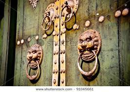 foo dog door knocker fengshui copper lion foo dog beast statue