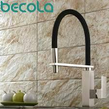 satin nickel kitchen faucet buy becola design brushed nickel kitchen faucet pull out
