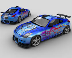 nissan tuner cars trackmania carpark u2022 3d models u2022 nissan 350z tuning
