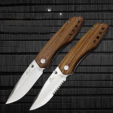 folded steel kitchen knives enlan m011 165mm 8cr13mov stainless steel blade wood handle mini