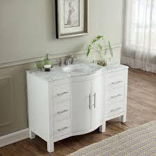 54 inch single sink contemporary bathroom vanity white finish