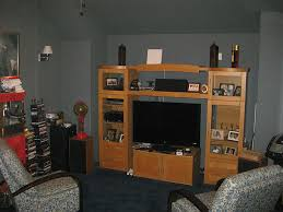 monochromatic grey chase home theater painting shows shabby