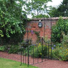 metal garden arch with gate archway ornament for climbing plants