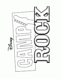 camp rock coloring pages free coloring
