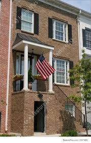 American House Flag Picture Of American Townhouse