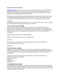 Resume Job History Neoteric How To Write A Proper Resume Job Resumes Format Good