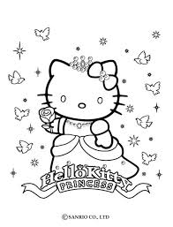 coloriages coloriage de princesse kitty fr hellokids com