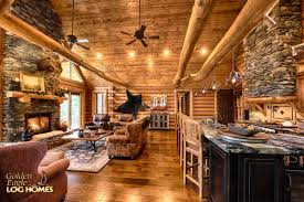 log home interiors photos golden eagle log and timber homes log home cabin pictures