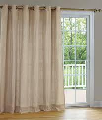 Patio Door Window Treatment Ideas Interior White Sheer Curtain With Ripple Fold Pleated For Sliding