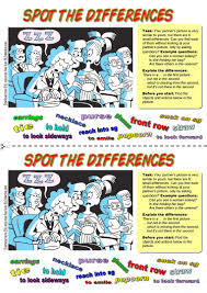 36 free esl spot the difference worksheets