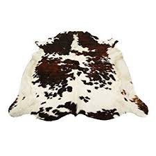 Cowhide Leather Rug Amazon Com Tricolor Brazilian Cowhide Rug Cow Hide Skin Leather