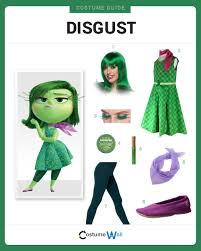 Inside Out Costumes Dress Like Disgust Costume Halloween And Cosplay Guides