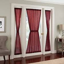 Sidelight Door Panel Curtains Crushed Voile Rod Pocket Side Light Window Curtain Panel Bed