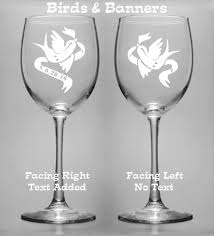 wine glasses for wedding personalized wedding toasting wine glasses set of 2 bread and
