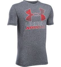 Under Armour Kids Clothes Under Armour Boys Ua Tech Big Logo Hybrid T Shirt Charcoal Heather