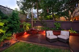 Backyard Landscape Lighting Ideas - decorating backyard landscape plus black gravel and rectangular