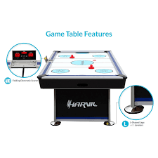 hockey time air hockey table amazon com harvil 7 foot air hockey table full size for kids and