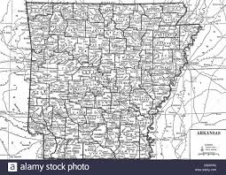 state of arkansas map map of arkansas state 1930 s stock photo royalty free image