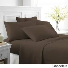 Chocolate Bed Linen - merit linens ultra soft 6 piece bed sheet set free shipping on