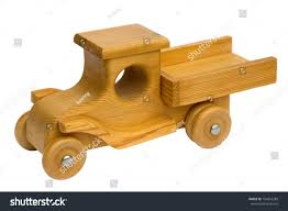 old retro homemade wooden toy truck stock photo 194816288