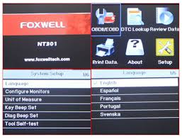 foxwell nt301 code reader scanner car dtc can engine faults i m