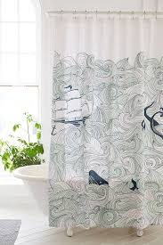Nautical Bathroom Curtains Elisa Cachero Odyssey Shower Curtain Outfitters And