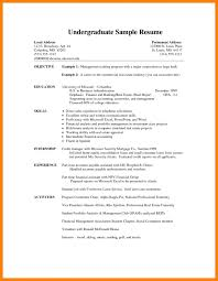 37 Good Resume Objectives Examples by Student Resume Format Templates College Example Sample Best Free