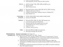 Vmware Resume Download Unix System Administration Sample Resume