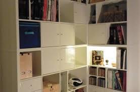 Une Bibliothèque D Angle Sur Mesure Avec Kallax Bidouilles Ikea Kallax Bureau